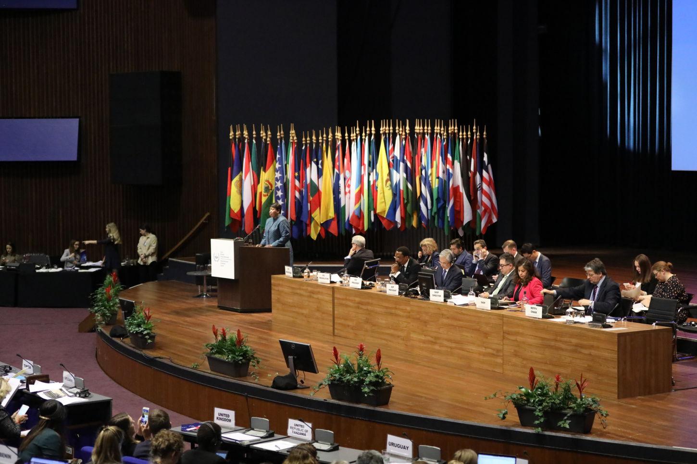 18ª sesión de la Asamblea de Estados Miembros de la Corte Penal Internacional (CPI) en La Haya en diciembre de 2019. (Imagen CPI vía Flickr).