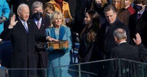 ¿FUE PREGRABADA? IMÁGENES que hacen DUDAR de la inauguración en vivo de Biden