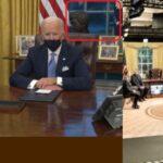 ¿ES UN MONTAJE?: Internautas sugieren que la Oficina Oval de Biden es un estudio de grabación