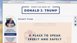 Donald Trump lanzó una plataforma de comunicaciones, evadiendo la censura