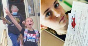 «Esto es abuso infantil»:  Valiente niña de 11 años fue suspendida de la escuela porque se negó a usar una máscara