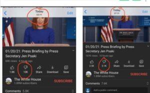 YouTube está suprimiendo los «No me gusta» de los videos de Joe Biden hasta en un 600%, confirma sitio web