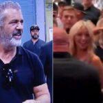 Mel Gibson saluda al presidente Donald Trump en el UFC 264 [VIDEOS]